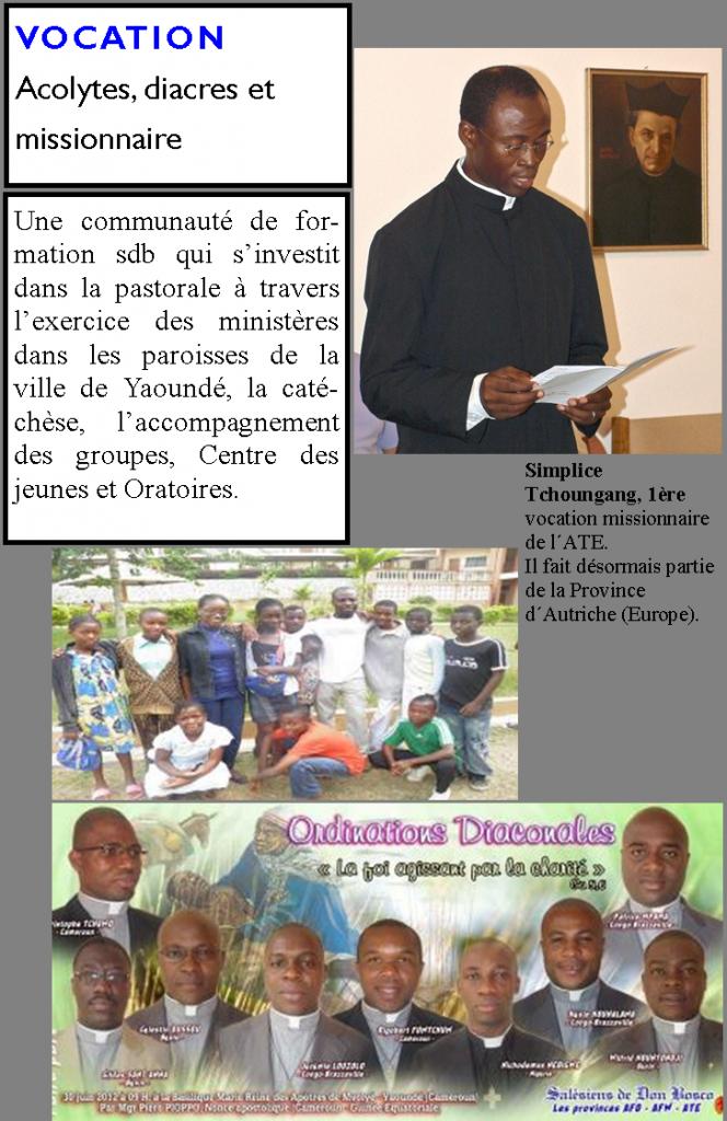 Vocation, acolytes, diacres et Missionnaire dans Les destinataires cocation